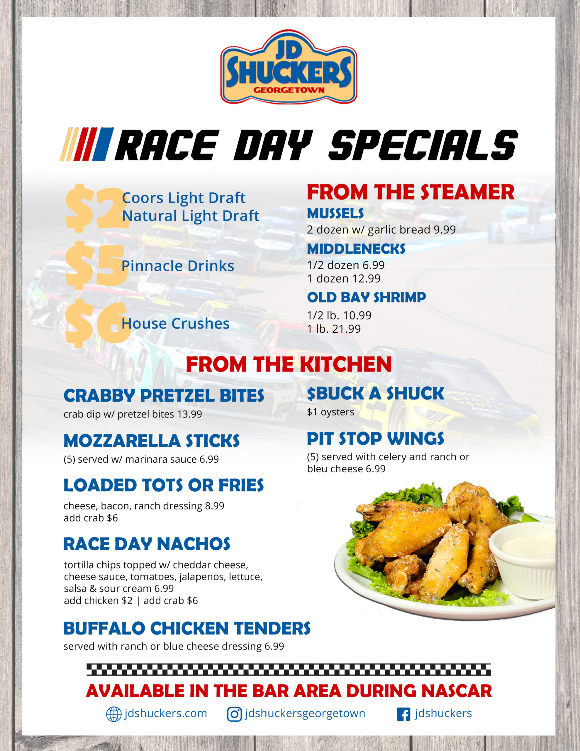 Race Day Specials